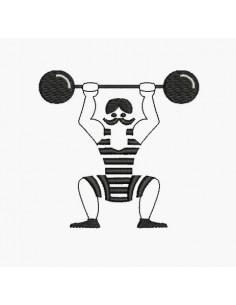 Motif de broderie machine Mr muscle