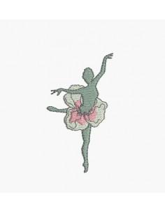 Motif de broderie machine danseuse fleur