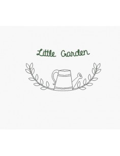 Instant download machine embroidery  design little garden