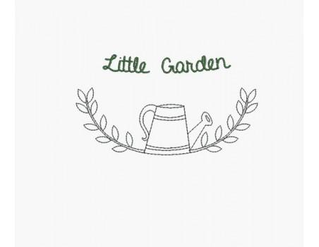 Instant download machine embroidery  design sprig of lavender