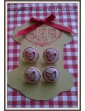 Motif de broderie machine lot de 10 miniatures pour boutons ou rubans