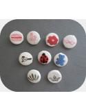 Motif de broderie machine lot de 10 miniatures pour rubans ou boutons