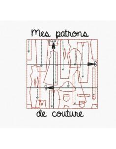 Motif de broderie machine patrons de couture