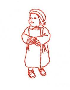 Petite fille10x10cm
