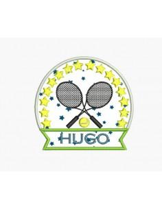 Motif de broderie machine tennis