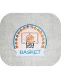 Motif de broderie machine basketball