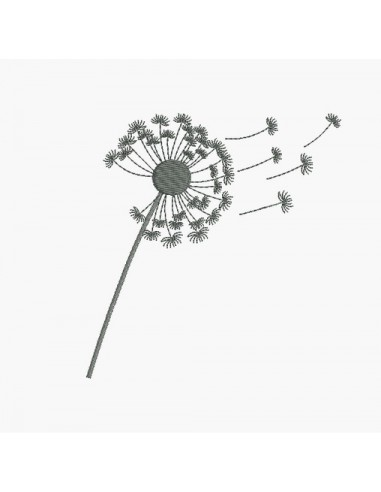 Instant download machine embroidery design dandelion