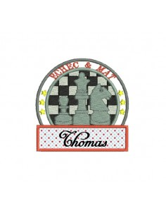 Instant download machine embroidery design chess game