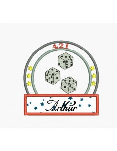 Instant download machine embroidery design I of dice