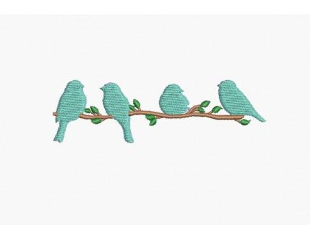 Instant download machine embroidery design bird