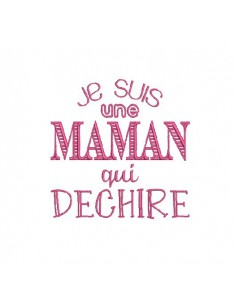 Instant download machine embroidery design mother