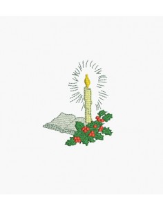 Instant download machine embroidery design candle christmas