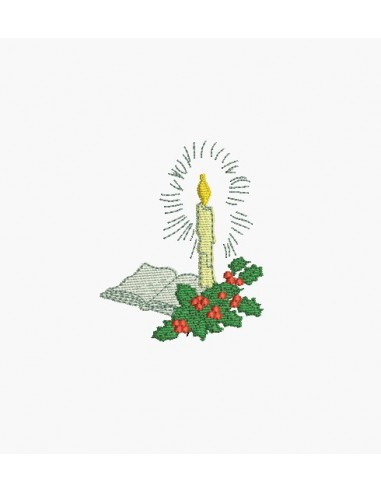 Motif de broderie machine bougie de Noël