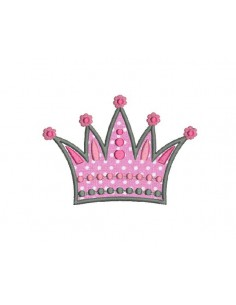 Instant download machine embroidery crown applique