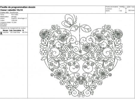 Instant download machine embroidery  design valentine heart