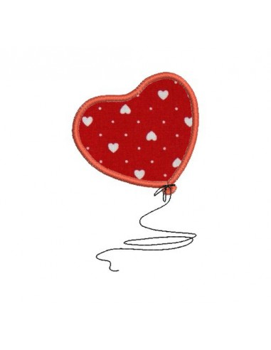 Motif de broderie machine coeur ballon