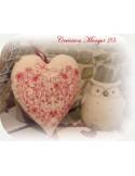 Motif de broderie machine coeur valentin