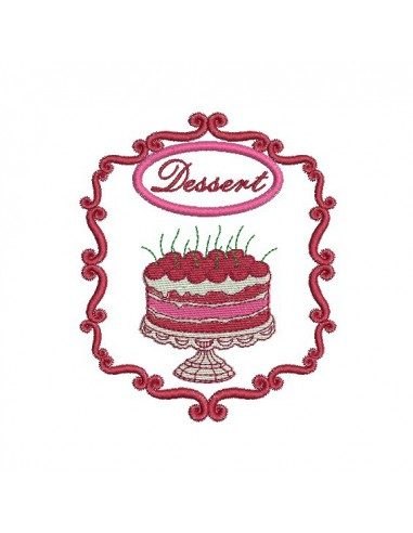 Instant download machine embroidery design cake