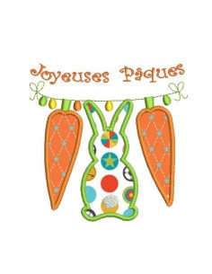 Instant download machine embroidery design rabbits
