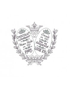 Instant download machine embroidery design retro advertising framing chocolates