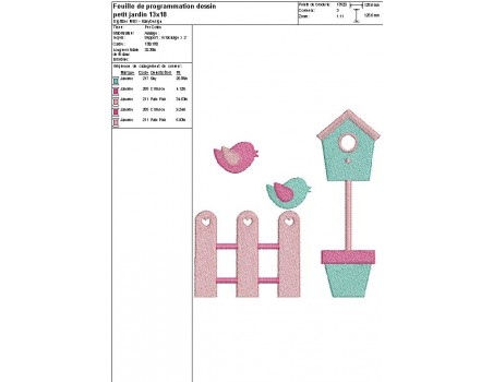 Instant download machine embroidery design little garden appied