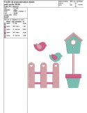 Instant download machine embroidery design little garden appied