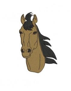 Motif de broderie machine tête de cheval pleine
