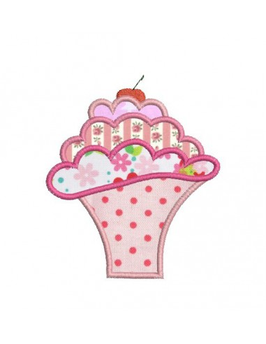 Instant download machine embroidery design 3 cup dessert mousses