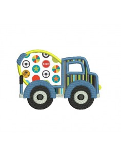 Instant download machine embroidery mixer truck