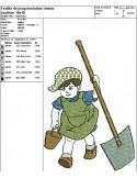 Motif de broderie machine petit jardinier