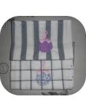 Instant download machine embroidery redwork hydrangea