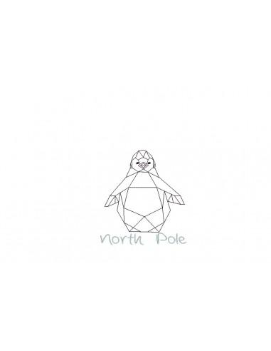 Motif de broderie machine pingouin pôle nord