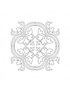Motif de broderie machine carreau de ciment baroque en redwork