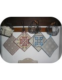 embroidery design  vintage cement tile