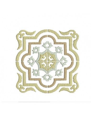 Instant download machine embroidery design arabesque Cement tile