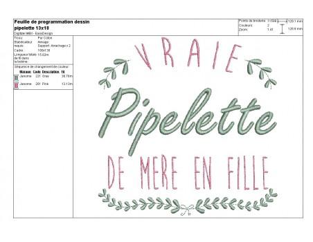 Instant download machine embroidery design great teacher