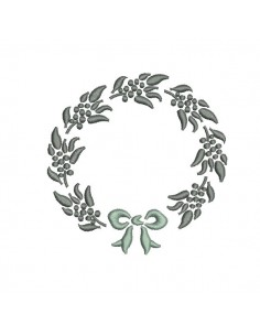Instant download machine embroidery design frame Crown foliage