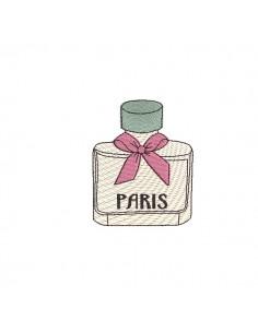 Motif de broderie machine flacon de parfum Paris