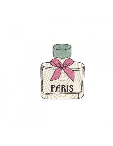 Motif de broderie machine flacon de parfum Pris