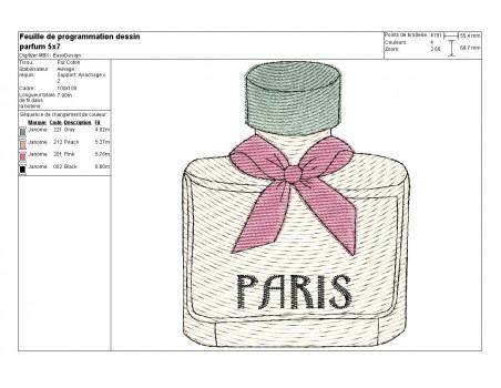 flacon de parfum n1  10x10 cm