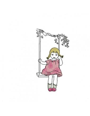 Silhouette Petite Fille Sur Balançoire Fashionsneakers Club