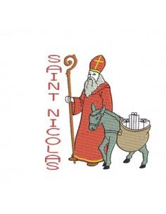 Instant download machine embroidery design saint Nicolas