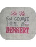 Instant download machine embroidery dessert