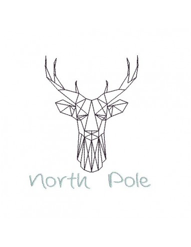 Instant download machine embroidery design North Pole Deer