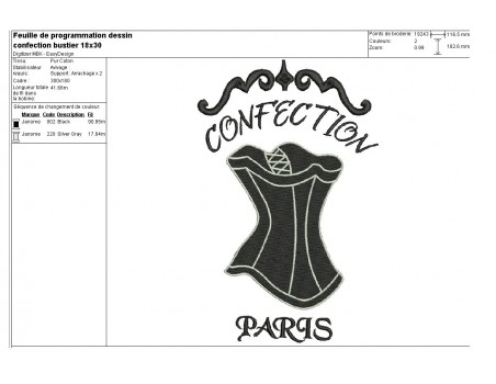 Instant download machine embroidery design applique Lingerie corset