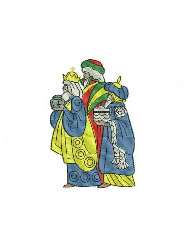 Motif de broderie machine les rois mages