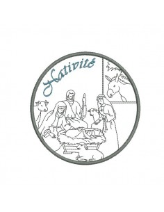Instant download machine embroidery design Nativity