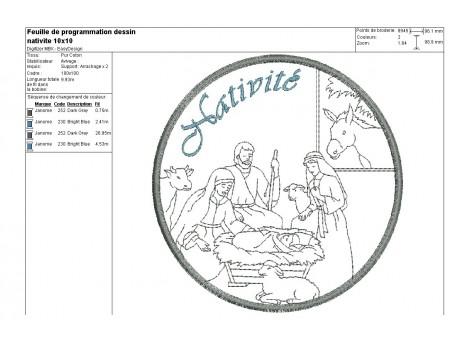 Instant download machine embroidery design Nativity