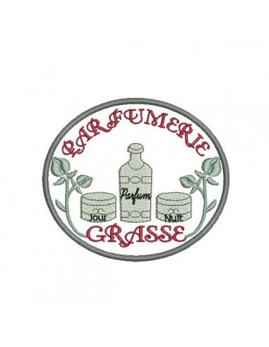 Motif de broderie machine parfumerie