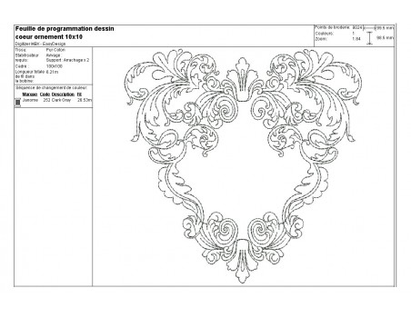 Instant download machine embroidery design heart redwork